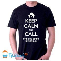 Keep Calm and call - IT Crowd - dámské nebo pánské tričko s potiskem