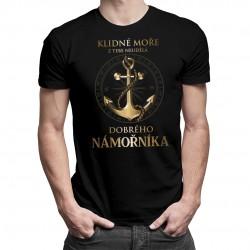 Klidné moře - pánská trička  s potiskem