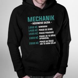 Mechanik - hodinová sazba - pánská mikina s potiskem