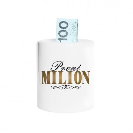 První milion - prasátko s potiskem