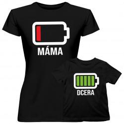 Baterie - tričko pro mamu a dcery