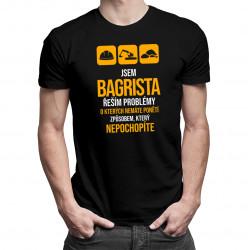Jsem bagrista - řeším problémy - pánské tričko s potiskem