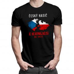 Český hasič je nejodvážnější na světě - pánské tričko s potiskem
