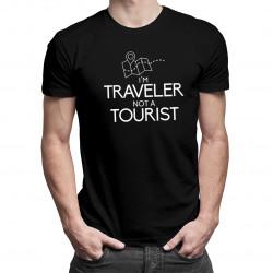 I'm a traveler not a tourist - pánská a dámská trička  s potiskem