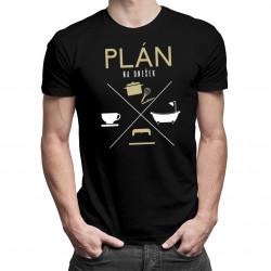 Plán na dnešek - kuchař - pánské tričko s potiskem