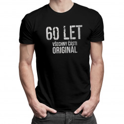 60 let - všechny části originál - pánská a dámská trička  s potiskem