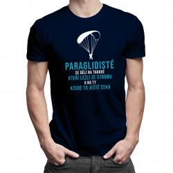 Paraglidisté - dámské nebo pánské tričko s potiskem