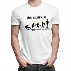 Vývoj elektrikáře - pánské tričko s potiskem