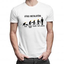 Vývoj instalatéra - pánské tričko s potiskem