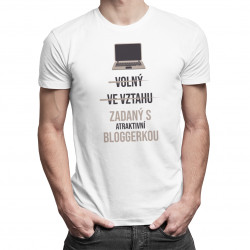Zadaný s atraktivní bloggerkou - pánské tričko s potiskem
