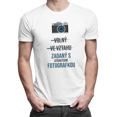 Zadaný s atraktivní fotografkou - pánské tričko s potiskem