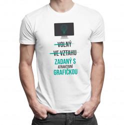 Zadaný s atraktivní grafičkou - pánské tričko s potiskem