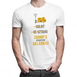 Zadaný s atraktivní skladnicí - pánské tričko s potiskem
