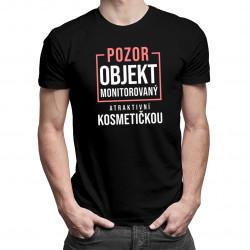 Objekt monitorovaný atraktivní kosmetičkou - pánské tričko s potiskem