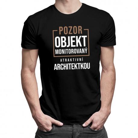 Objekt monitorovaný atraktivní architektkou - pánské tričko s potiskem