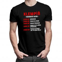 Klempíř - hodinová sazba - pánské tričko s potiskem