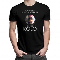 Jiní potřebují psychoterapii, mně stačí kolo - dámské a pánské tričko s potiskem