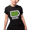 Baterie - dcera - dětské tričko s potiskem