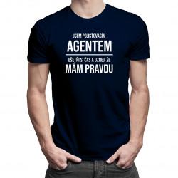 Jsem pojišťovacím agentem - pánské tričko s potiskem