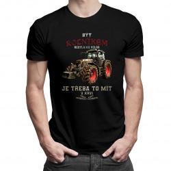 Být rolníkem nebyla má volba - pánské tričko s potiskem