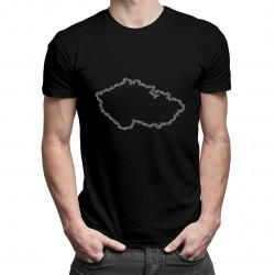 Jízdní kola - Česká republika - pánská a dámská trička  s potiskem