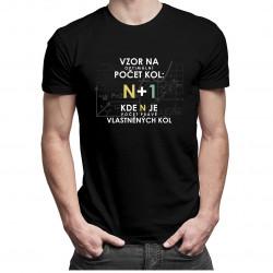 Vzor na optimální počet kol v2 - dámské a pánské tričko s potiskem