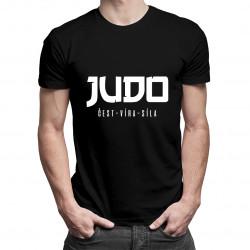 Judo: čest - víra - síla - pánská trička  s potiskem