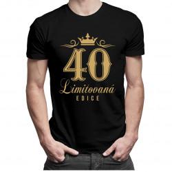 40 let - limitovaná edice - pánská a dámská trička  s potiskem
