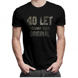 40 let - všechny části originál  - pánská trička  s potiskem