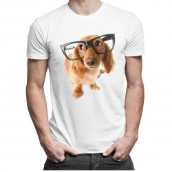 Štěně s brýlemi - Pánská a dámská trička  s potiskem
