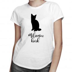 Milovnice koček - dámská trička  s potiskem