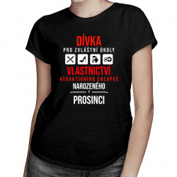 Dívka pro zvláštní úkoly - chlapce narozeného v prosinci - dámská trička  s potiskem