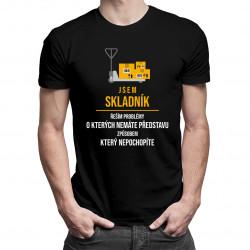 Jsem skladník - řeším problémy - Pánská trička  s potiskem