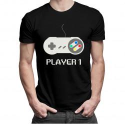 Player 1 v1 - dámské a pánské tričko s potiskem