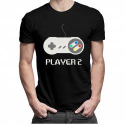 Player 2 v1 - dámské a pánské tričko s potiskem