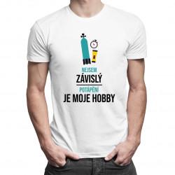 Nejsem závislý, potápění je moje hobby - pánská trička  s potiskem