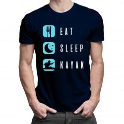 Eat / Sleep / Kayak - pánská trička  s potiskem