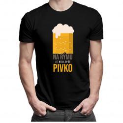 Na rýmu je nejlepší pivko - dámské a pánské tričko s potiskem