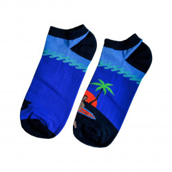 Vtipné ponožky surfové - nízký