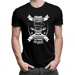 Všichni se rodi stejni, ale jen najlepši se stanou Kuchaři - pánské tričko s potiskem
