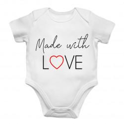 Made with love - dětské body s potiskem