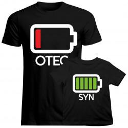 Baterie - tričko pro otca a syna
