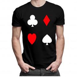 Poker  - kříže, piky, kára, srdce