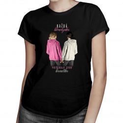 Každá blondýnka potřebuje svou brunetku - dámské tričko s potiskem