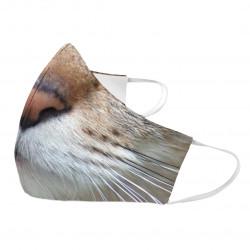 Kočka - ochranná rouška s potiskem