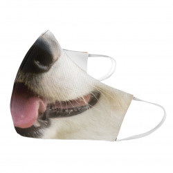 Pes - ochranná rouška s potiskem