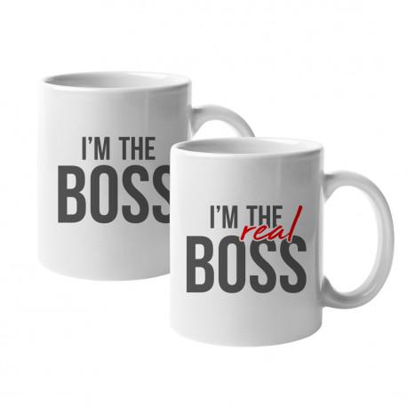 Hrnky I'm the boss - I'm the real boss - Keramický hrnek s potiskem