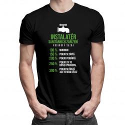 Instalatér sanitárních zařízení - hodinová sazba - pánské tričko s potiskem