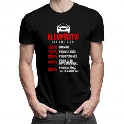Klempířství - hodinová sazba - pánské tričko s potiskem