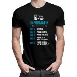 Informatik - hodinová sazba - pánské tričko s potiskem